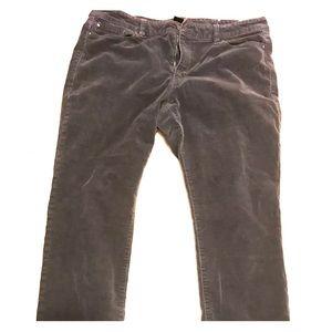 Grey Ann Taylor Soft Corduroy Pants